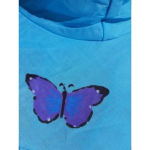 Butterfly Pop Up Sun Hats - Aqua