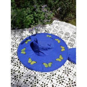 Butterfly Pop Up Sun Hats - Blue