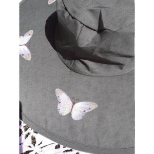 Butterfly Pop Up Sun Hats - Dark Green