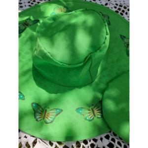 Butterfly Pop Up Sun Hats - Green