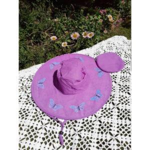 Butterfly Pop Up Sun Hats - Lilac