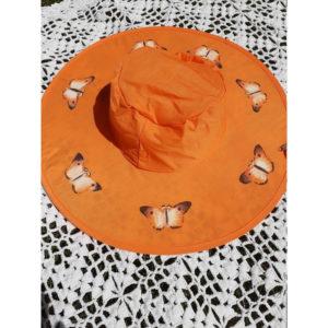Butterfly Pop Up Sun Hats - Orange