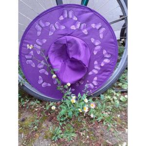 Butterfly Pop Up Sun Hats - Purple