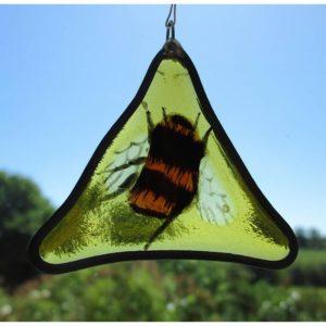 Gillian's Glass Fused Glass Bee Suncatcher