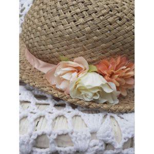 Vintage Peaches and Cream Hat