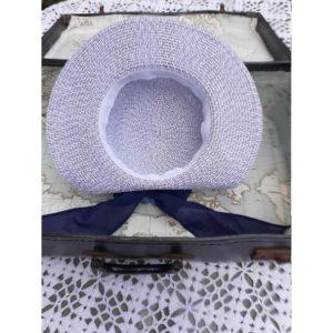 Vintage Blue Peony Hat