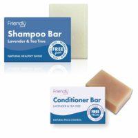 Friendly Soap Shampoo & Conditioner Twin Pack - Lavender & Tea Tree