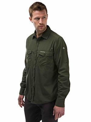 CMS338 Craghoppers NosiDefence Mens Kiwi Shirt - Cedar - Front
