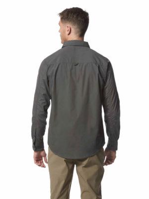 CMS338 Craghoppers NosiDefence Mens Kiwi Shirt - Dark Grey - Back