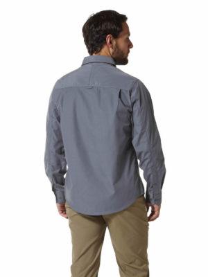 CMS338 Craghoppers NosiDefence Mens Kiwi Shirt - Ombre Blue - Back