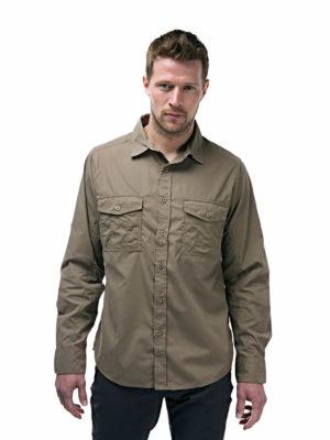 CMS338 Craghoppers NosiDefence Mens Kiwi Shirt - Pebble - Front