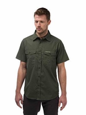 CMS339 Craghoppers NosiDefence Kiwi Shirt - Cedar - Front
