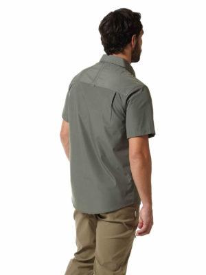 CMS339 Craghoppers NosiDefence Kiwi Shirt - Dark Grey - Back
