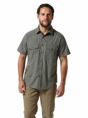 CMS339 Craghoppers NosiDefence Kiwi Shirt - Dark Grey - Front