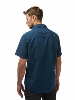 CMS339 Craghoppers NosiDefence Kiwi Shirt - Faded Indigo - Back