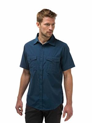CMS339 Craghoppers NosiDefence Kiwi Shirt - Faded Indigo - Front