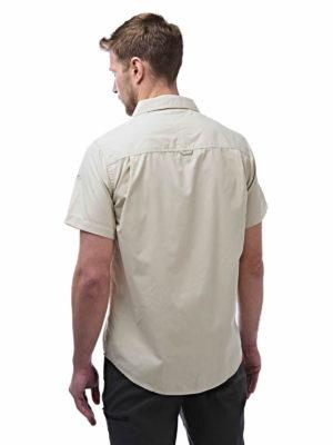 CMS339 Craghoppers NosiDefence Kiwi Shirt - Oatmeal - Back