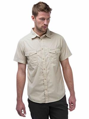CMS339 Craghoppers NosiDefence Kiwi Shirt - Oatmeal - Front