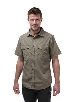 CMS339 Craghoppers NosiDefence Kiwi Shirt - Pebble - Front