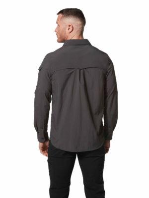 CMS605 Craghoppers NosiLife Mens Adventure Shirt - Black Pepper - Back