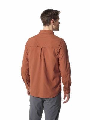 CMS605 Craghoppers NosiLife Mens Adventure Shirt - Burnt Whiskey - Back