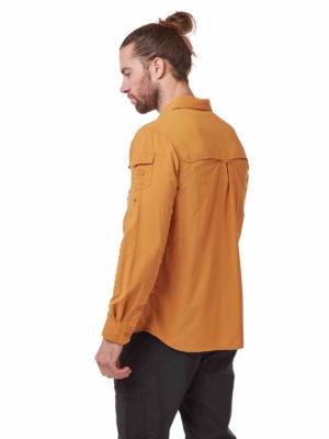CMS605 Craghoppers NosiLife Mens Adventure Shirt - Cumin - Back