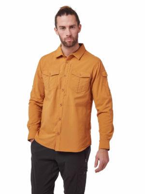 CMS605 Craghoppers NosiLife Mens Adventure Shirt - Cumin - Front