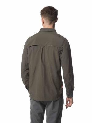 CMS605 Craghoppers NosiLife Mens Adventure Shirt - Dark Khaki - Back