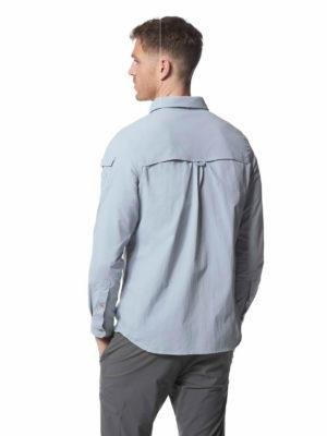CMS605 Craghoppers NosiLife Mens Adventure Shirt - Fogle Blue - Back