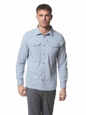 CMS605 Craghoppers NosiLife Mens Adventure Shirt - Fogle Blue - Front