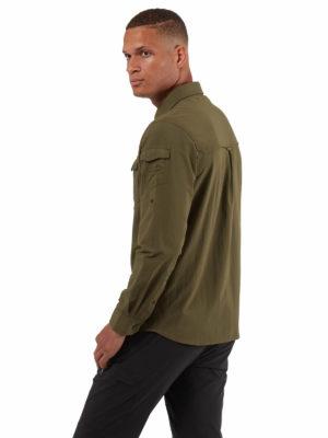 CMS605 Craghoppers NosiLife Mens Adventure Shirt - Dark Moss - Back