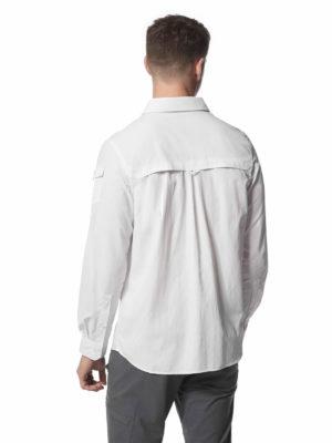 CMS605 Craghoppers NosiLife Mens Adventure Shirt - Optic White - Back