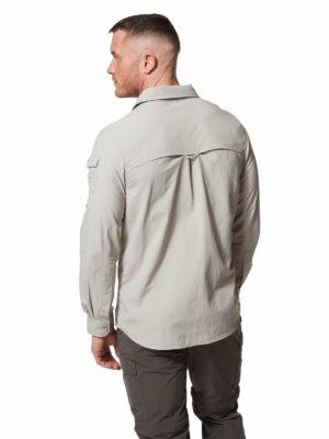 CMS605 Craghoppers NosiLife Mens Adventure Shirt - Parchment - Back