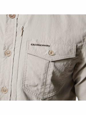 CMS605 Craghoppers NosiLife Mens Adventure Shirt - Zip Pocket