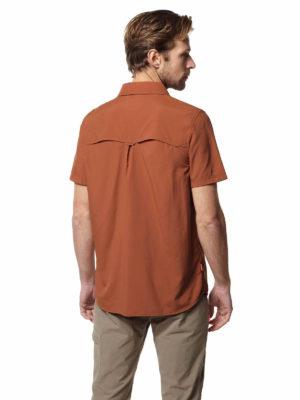 CMS607 Craghoppers NosiLife Adventure II Shirt - Burnt Whiskey - Back