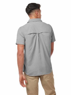 CMS607 Craghoppers NosiLife Adventure II Shirt - Cloud Grey - Back