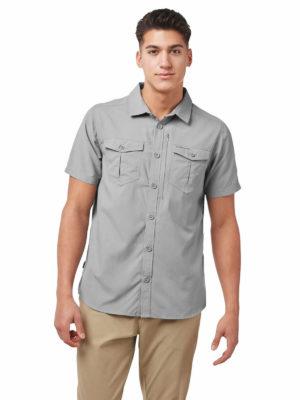 CMS607 Craghoppers NosiLife Adventure II Shirt - Cloud Grey - Front
