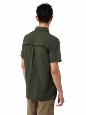 CMS607 Craghoppers NosiLife Adventure II Shirt - Dark Khaki - Back