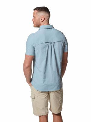 CMS607 Craghoppers NosiLife Adventure II Shirt - Fogle Blue - Back