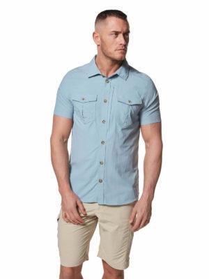 CMS607 Craghoppers NosiLife Adventure II Shirt - Fogle Blue - Front