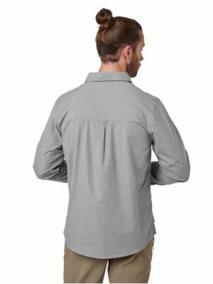 CMS612 Craghoppers NosiDefence Kiwi Boulder Shirt Cloud Grey Back