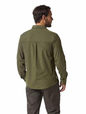 CMS612 Craghoppers NosiDefence Kiwi Boulder Shirt Dark Khaki Back