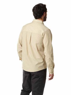 CMS612 Craghoppers NosiDefence Kiwi Boulder Shirt Oatmeal Back