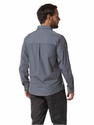 CMS612 Craghoppers NosiDefence Kiwi Boulder Shirt Ombre Blue Back