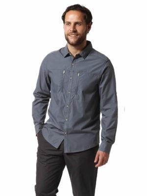 CMS612 Craghoppers NosiDefence Kiwi Boulder Shirt Ombre Blue Front