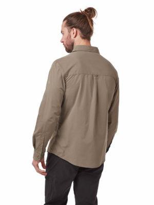 CMS612 Craghoppers NosiDefence Kiwi Boulder Shirt Pebble Back