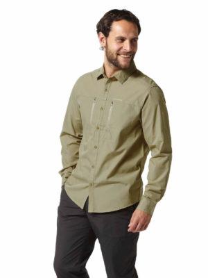 CMS612 Craghoppers NosiDefence Kiwi Boulder Shirt Rubble Front