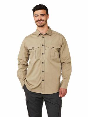 CMS620 Craghoppers Kiwi Ripstop Shirt - Raffia - Front