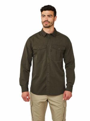 CMS620 Craghoppers Kiwi Ripstop Shirt - Woodland Green - Front