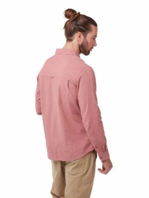 CMS626 Craghoppers Kiwi Linen Shirt - Light Radicchio - Back